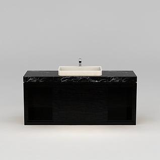 餐厅洗手台盆3d模型