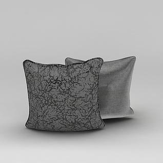 亮面布艺抱枕3d模型
