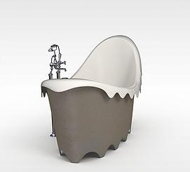 高档浴缸模型