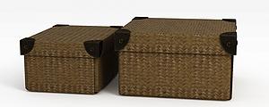 3d复古收纳盒模型