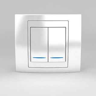 墙壁电灯开关3d模型3d模型