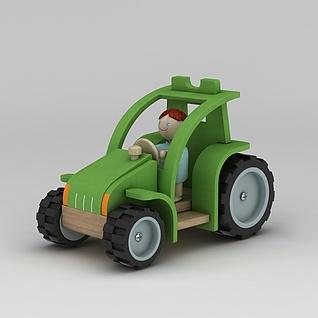 儿童玩具车3d模型