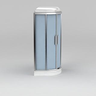 独立淋浴房3d模型