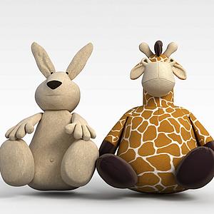 布藝卡通玩偶模型3d模型