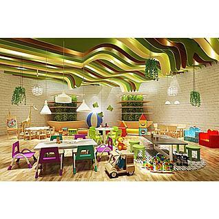 幼儿园卡通家具3d模型3d模型