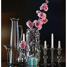 玻璃花瓶烛台插花摆件组合3D模型3d模型