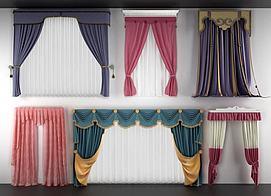 常用款儿童房窗帘模型