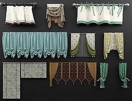 田园风窗帘模型