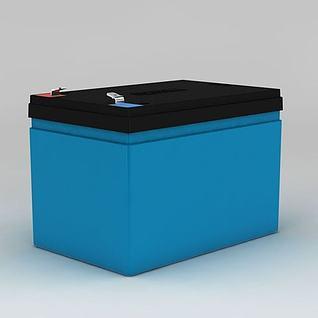 超威电池模型动画3d模型
