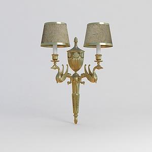 奢華歐式壁燈模型3d模型