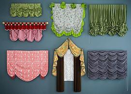 公主房窗帘模型