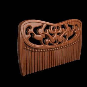 木纹梳子模型