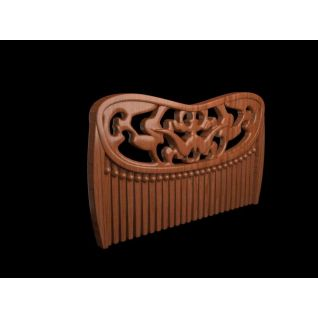 木纹梳子3d模型