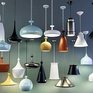 现代创意个性吊灯3d模型