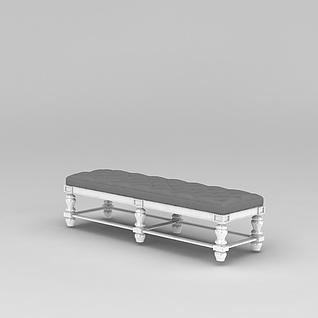 欧式沙发凳3d模型3d模型