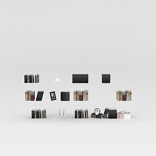收藏书籍3d模型3d模型
