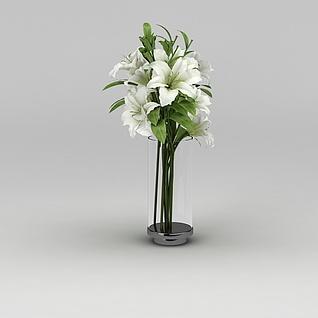 百合花卉3d模型