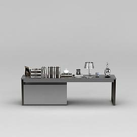 现代书桌3d模型