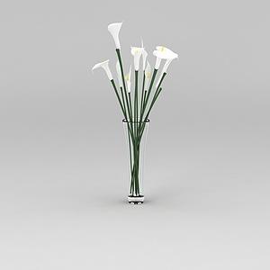 室內裝飾鮮花花瓶模型3d模型