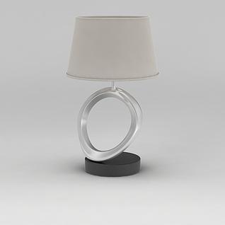 现代简约床头台灯3d模型