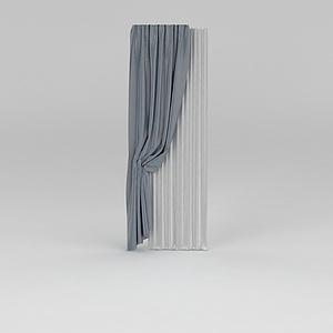 窗帘纱帘模型3d模型