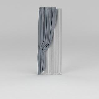 窗帘纱帘3d模型