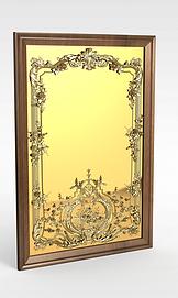 方形铜镜模型