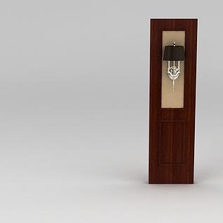 美式客厅隔断壁灯3d模型