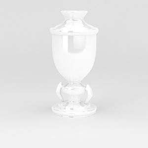 白色陶瓷擺件模型3d模型