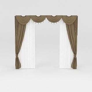 窗幔窗帘3d模型