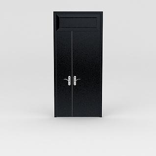 双开木门3d模型