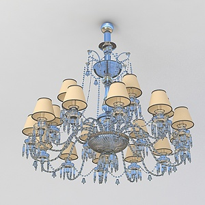 3d豪華客廳<font class='myIsRed'>水晶吊燈</font>模型