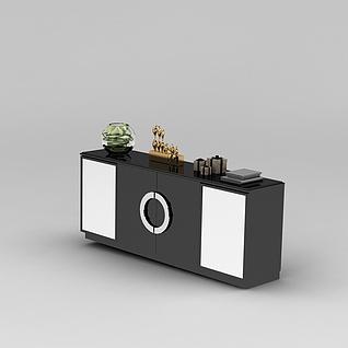 现代高端大气电视柜3d模型3d模型