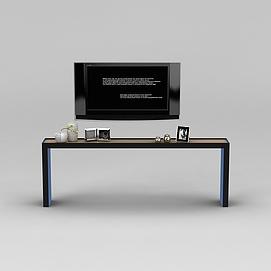 <font class='myIsRed'>电视柜</font>和陈设摆件3d模型