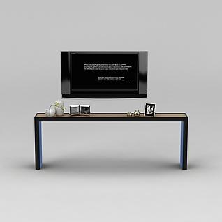 电视柜和陈设摆件3d模型3d模型