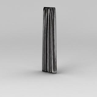 深色遮光窗帘3d模型