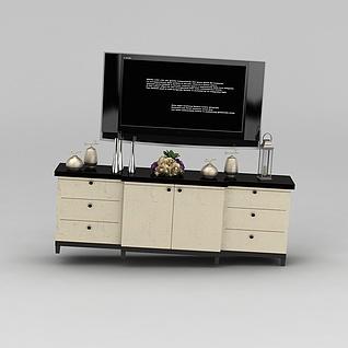 电视和电视柜3d模型3d模型