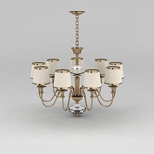 美式客厅吊灯3d模型3d模型
