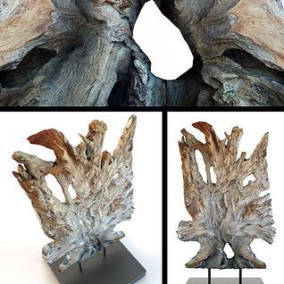 原木装饰摆件3d模型