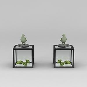 小鳥擺件模型3d模型