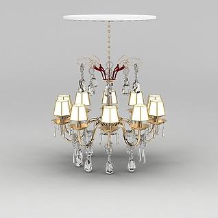 奢华水晶吊灯3d模型3d模型