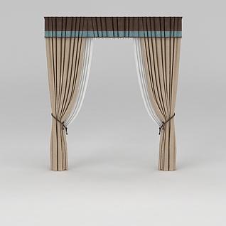 客厅窗帘3d模型