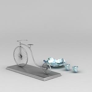 创意自行车摆件模型3d模型