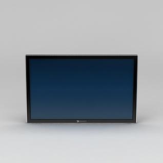 超薄电视屏3d模型3d模型