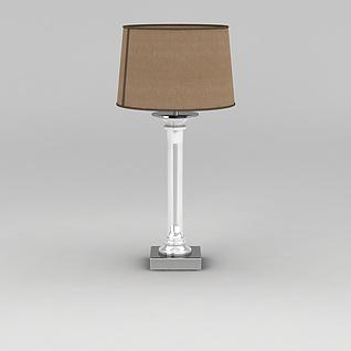 棕色台灯3d模型