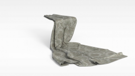 印花毯子模型