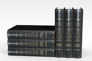 套装书籍模型3d模型