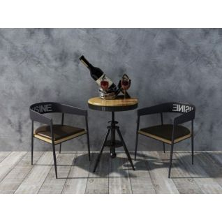 工業風桌椅組合3d模型
