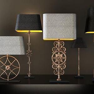 古典奢华台灯模型