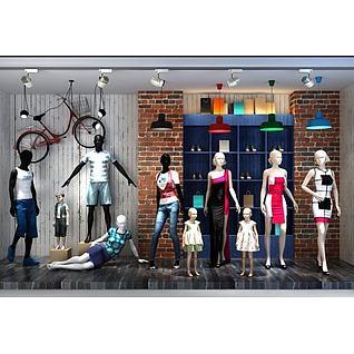 精品厨窗模特灯具组合3d模型